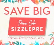 Save with promo code SIZZLEPRE